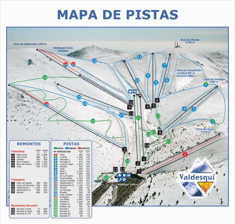 Skiing in Madrid. Ski tour in Madrid with Dreampeaks