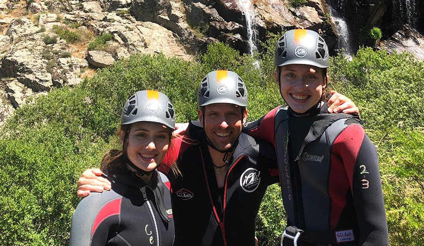 Canyoning in Madrid. Outdoor Activities and Adventure in Madrid with Dreampeaks.