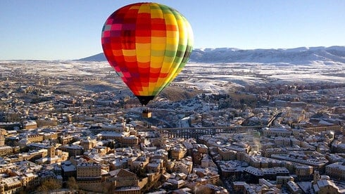 Balloon Flight in Segovia close to Madrid.