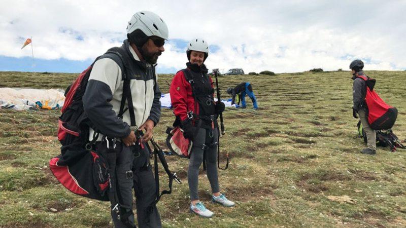 Paragliding in Madrid. Sky Adventure. Paragliding tandem flight in Madrid.