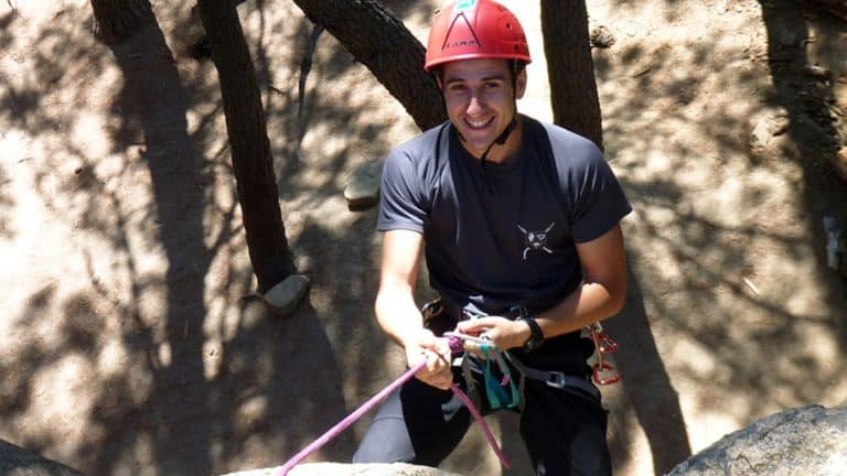 Rappelling in Madrid. Abseiling in Madrid. Dreampeaks