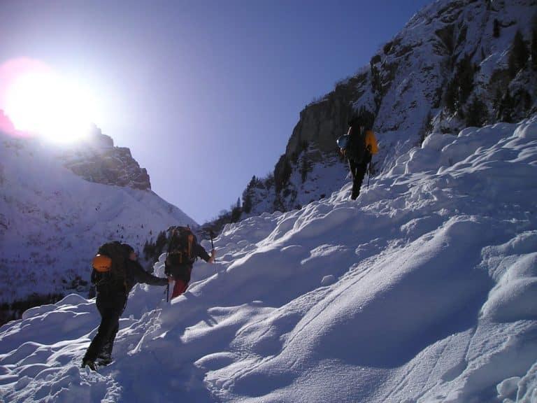 Snowshoeing in Madrid. Snowshoe Hikes Madrid. Snow sports Madrid with Dreampeaks