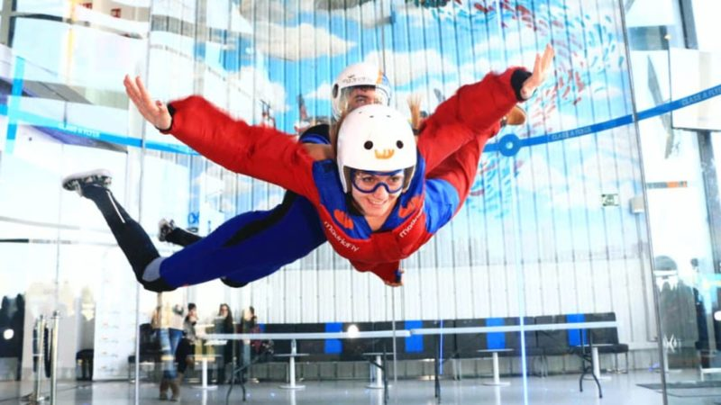 Enjoy flying air tunnel in Madrid with dreampeaks