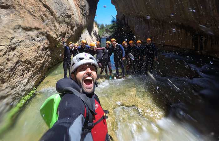 Canyoning in Cuenca with Dreampeaks. Canyoning in Madrid