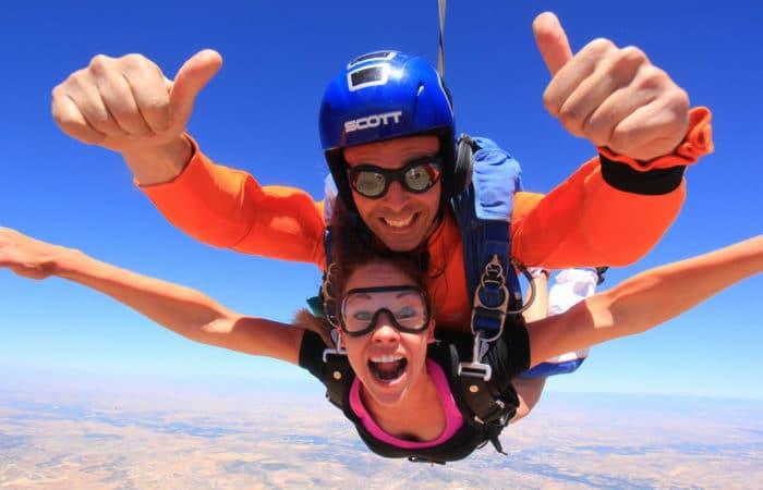 Skydiving in Madrid with Dreampeaks - Adventure outdoor activities.