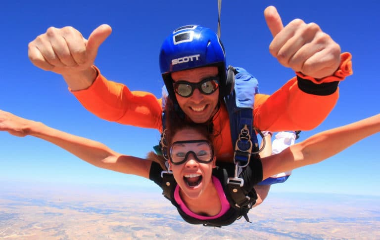 Skydiving in Madrid with Dreampeaks - Adventure outdoor activities.