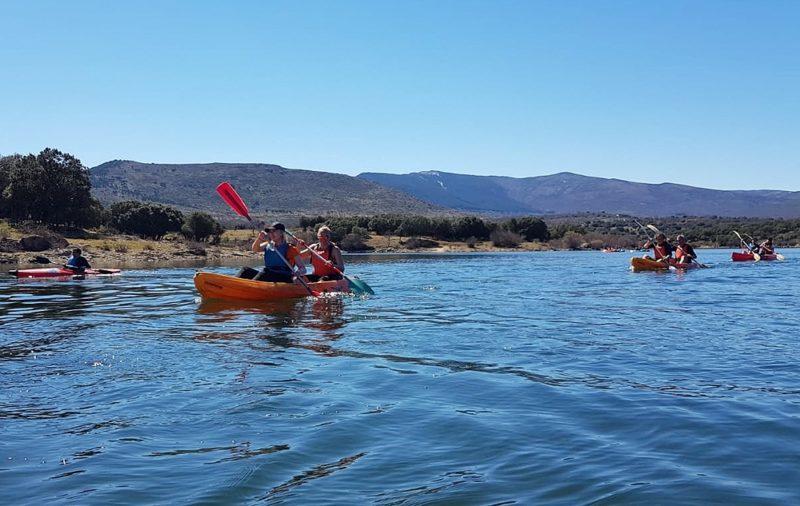 Kayaking in Madrid with Dreampeaks.