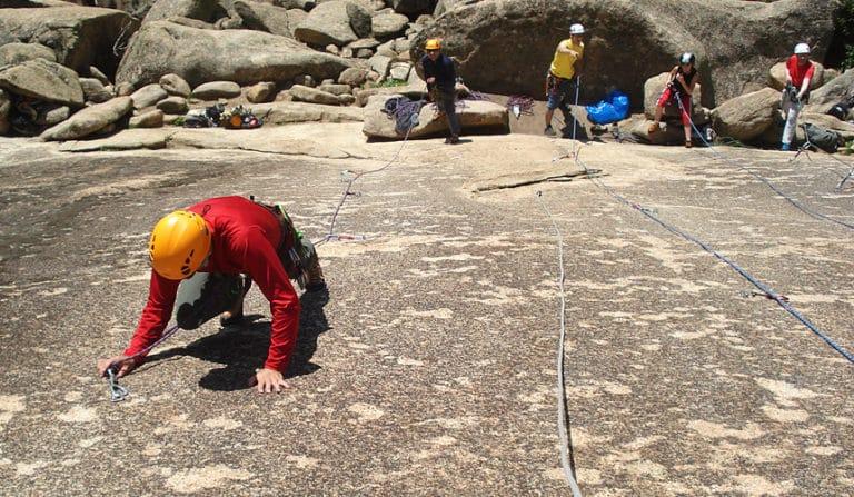 Rock Climbing in La Pedriza with Dreampeaks. Rock climbing in Madrid.
