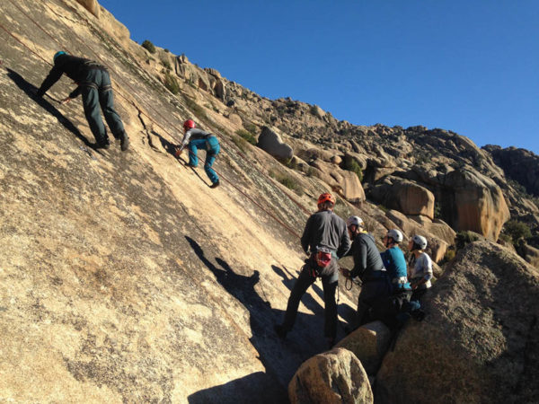 Rock Climbing in Madrid with Dreampeaks. rock climbing in La Pedriza